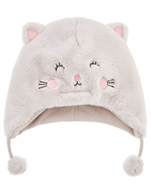 Fluffy Cat Chullo Hat, Multi (PASTEL-MULTI), large