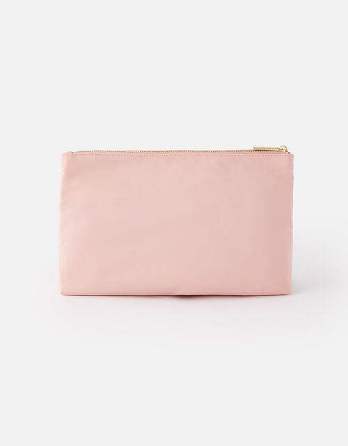 Zahra Zip Makeup Bag, Nude (NUDE), large