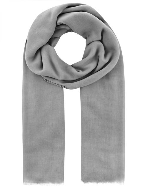 Sorrento Lightweight Scarf, Grey (GREY), large