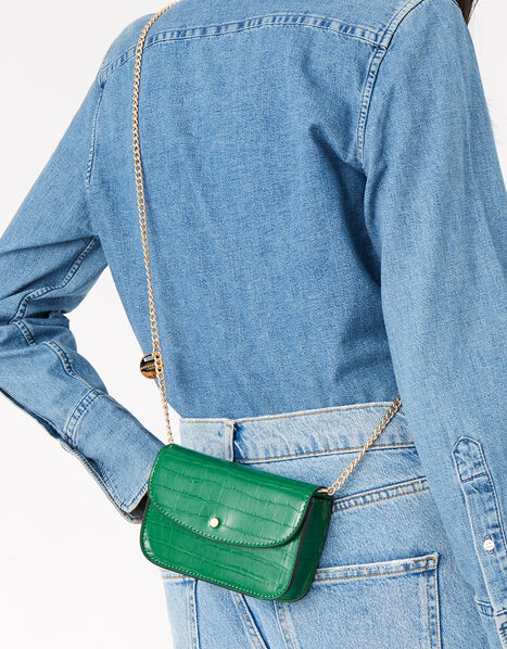 Mini Purse Cross-Body Bag  Green, Green (GREEN), large
