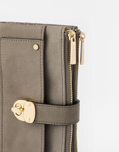 Freya Push Lock Wallet  Grey, Grey (GREY), large