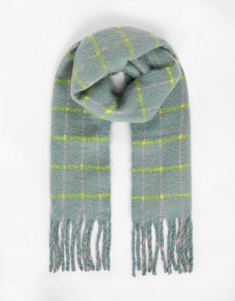 Sophie Brushed Check Blanket Scarf, , large