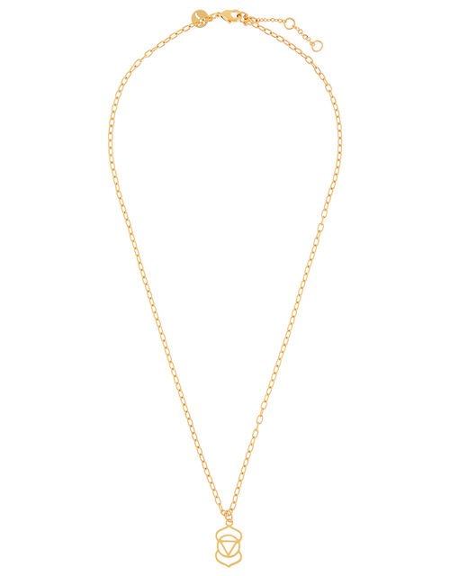 Gold-Plated Third Eye Chakra Necklace, , large