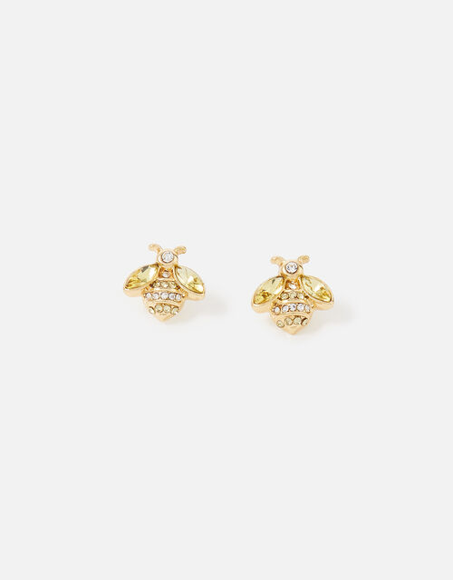 Crystal Bee Stud Earrings, , large