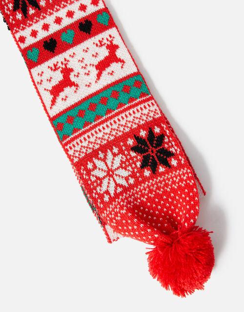 Christmas Fairisle Scarf, Multi (BRIGHTS-MULTI), large