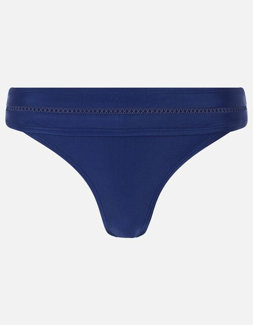 Ladder Detail Bikini Briefs with Recycled Polyester, Blue (NAVY), large