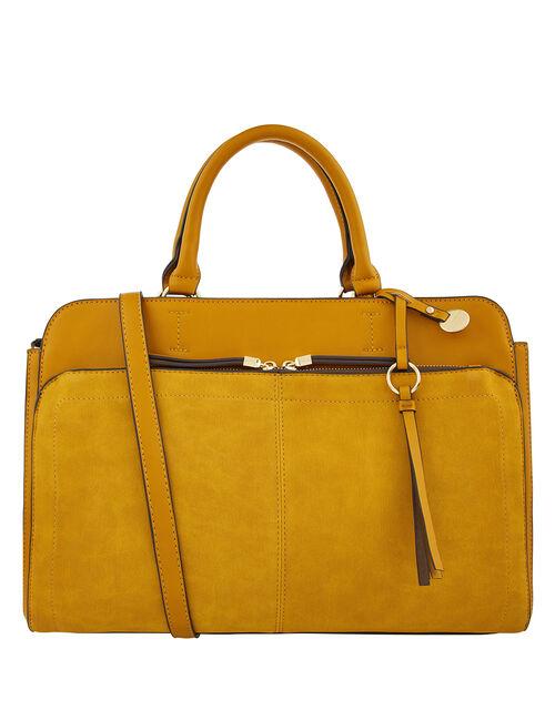 Maddie Work Bag, Yellow (OCHRE), large