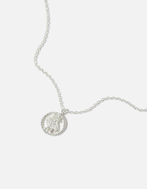 Sterling Silver St. Christopher Necklace, , large