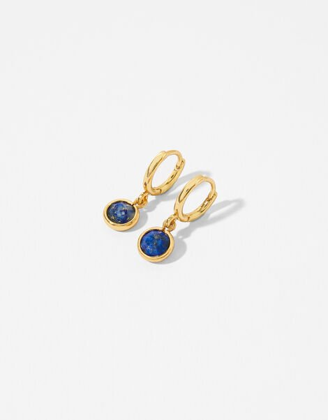 Gold-Plated Birthstone Earrings - September, , large