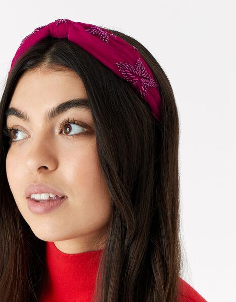 Star Embroidered Headband, , large