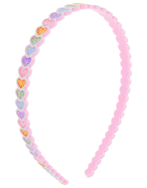 Rainbow Heart Headband, , large