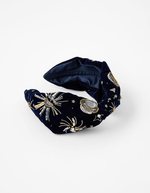 Cosmic Embellished Velvet Headband, , large