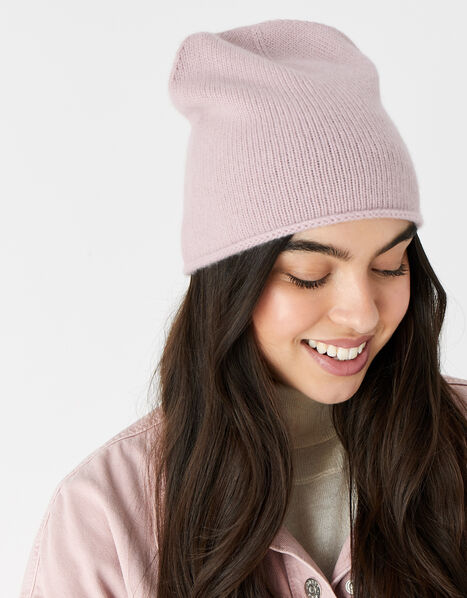 Knit Beanie in Cashmere Pink, Pink (PINK), large