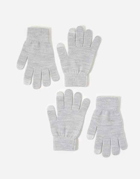Metallic Touchscreen Glove Twinset, , large