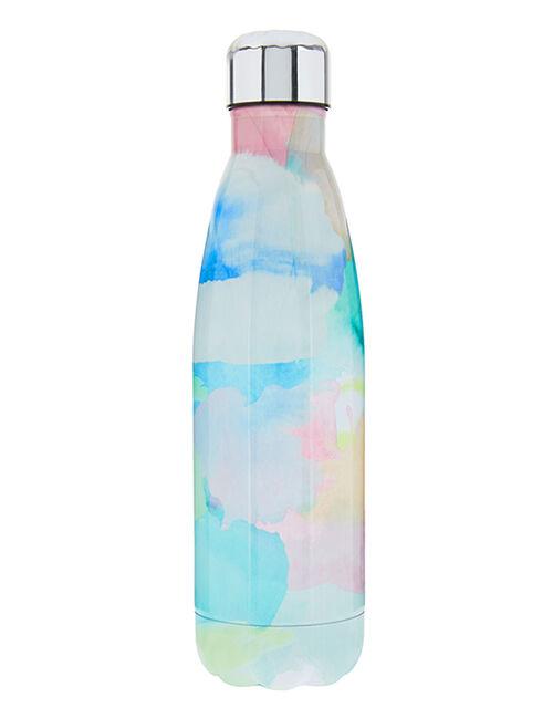 Watercolour Double-Walled Metal Water Bottle, , large