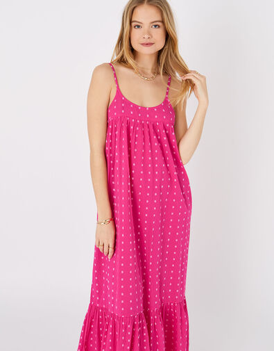 Dobby Maxi Dress Pink, Pink (PINK), large