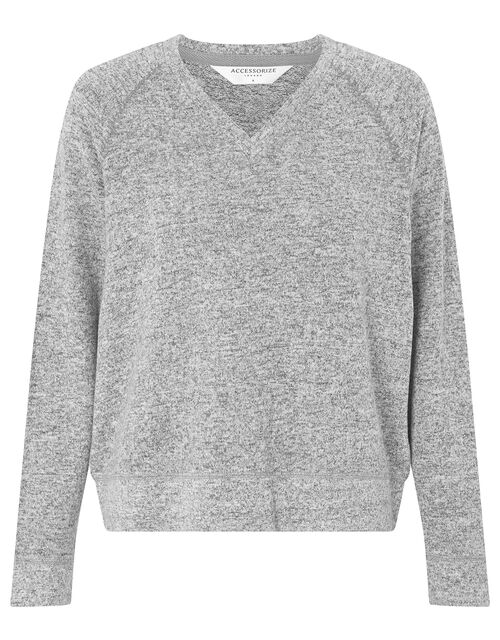 Grey Marl Sweatshirt, Grey (GREY), large