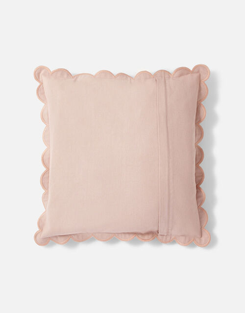 Scallop Edge Cushion Cover, Pink (PALE PINK), large