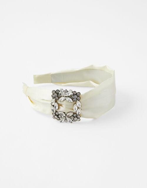Diamanté Buckle Headband, , large