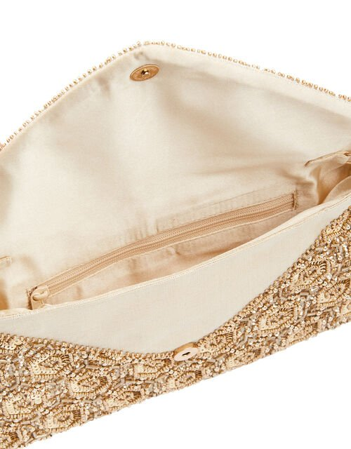 Tamara Embellished Clutch Bag, Gold (GOLD), large
