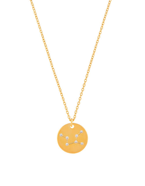 Gold-Plated Constellation Necklace - Virgo, , large