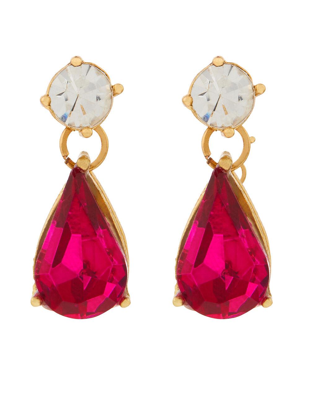 Mini Kylie Gem Drop Earrings, Pink (PINK), large