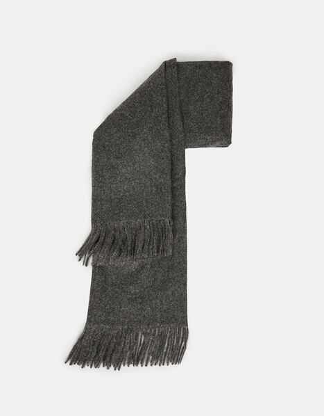 Holly Super-Soft Blanket Scarf Grey, , large