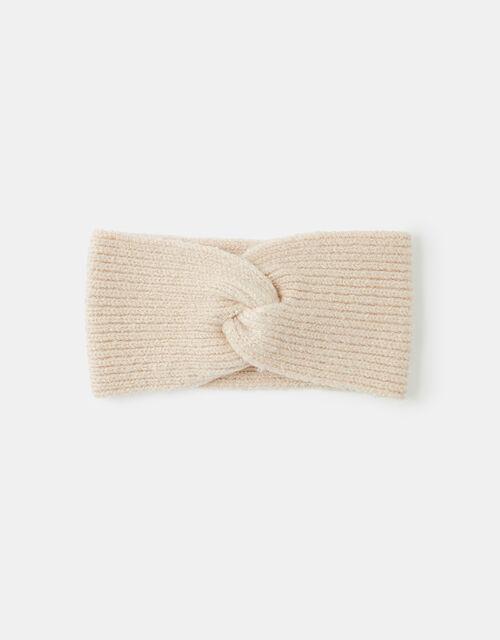 Knit Bando Headband, Natural (NATURAL), large