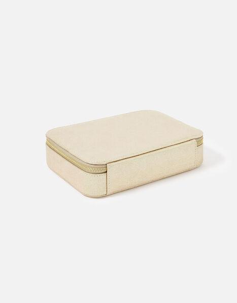 Josie Croc Jewellery Box Gold, Gold (GOLD), large
