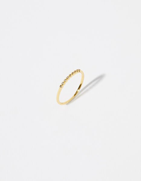 Gold Vermeil White Topaz Ring Gold, Gold (GOLD), large