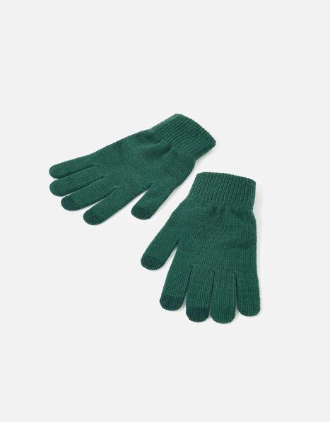 Stretch Touchscreen Gloves Green, Green (GREEN), large