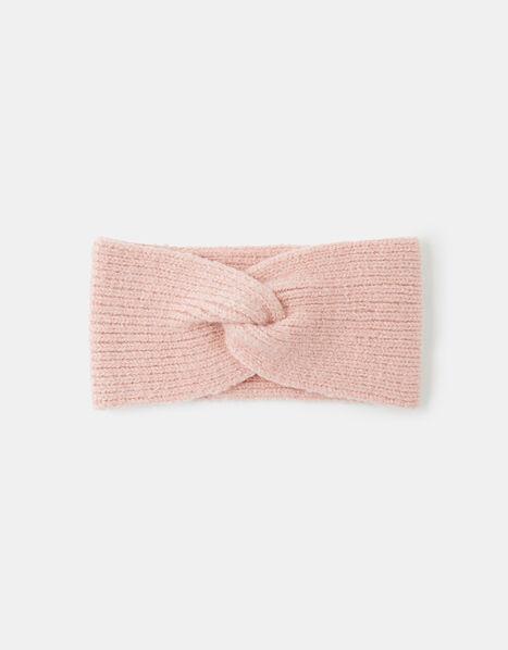Knit Bando Headband Pink, Pink (PALE PINK), large