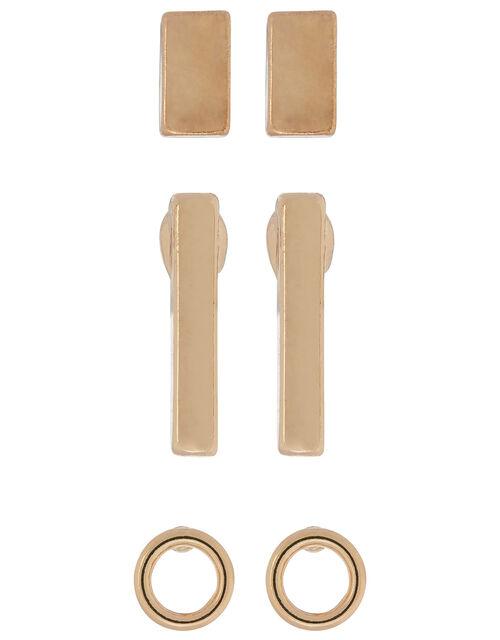 Geo Stud Earring Set, , large