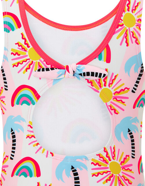 Summer Palm Tree Swimsuit, Multi (BRIGHTS-MULTI), large