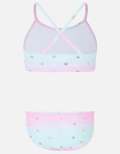 Mermaid Shell Print Bikini Set Multi, Multi (BRIGHTS-MULTI), large