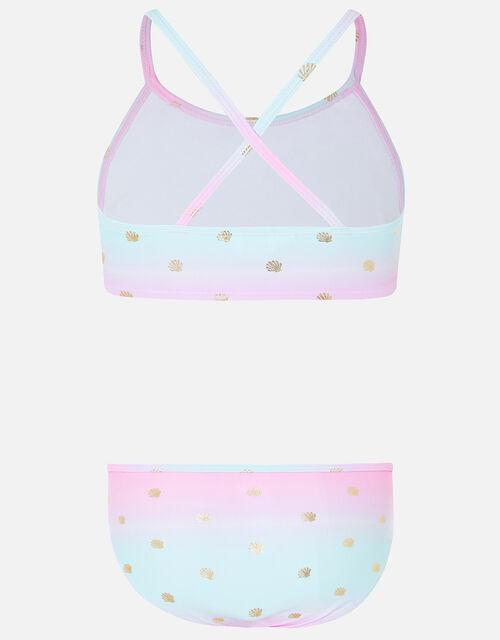 Mermaid Shell Print Bikini Set, Multi (BRIGHTS-MULTI), large