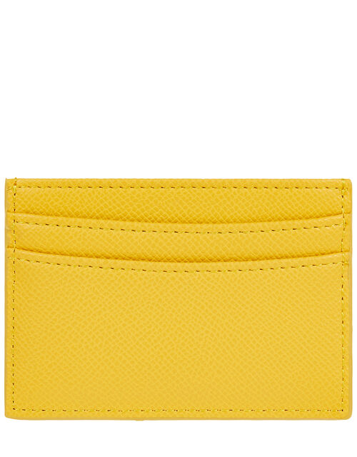 Embroidered Rainbow Cardholder, Yellow (YELLOW), large