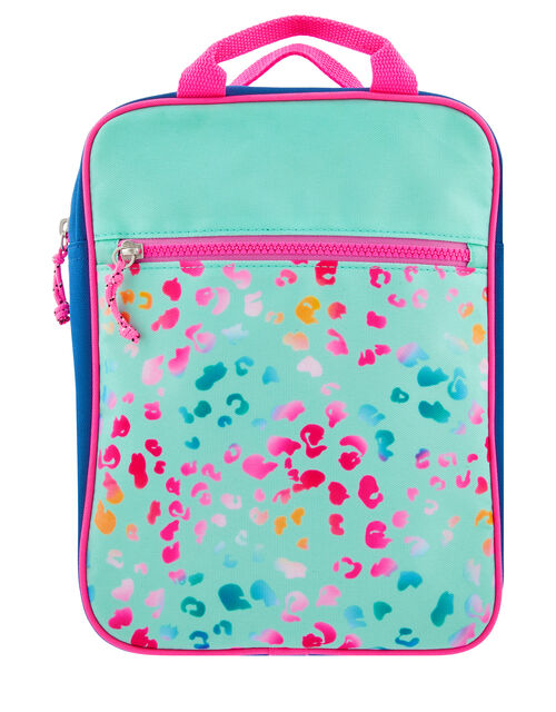 Colourful Leopard Print Backpack, , large