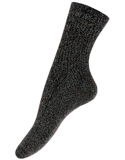 Ribbed Sparkle Ankle Socks, , large