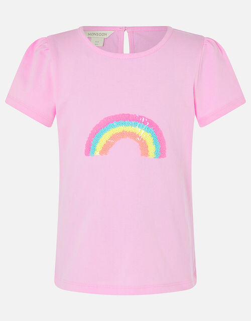 Sequin Rainbow T-Shirt, Multi (BRIGHTS-MULTI), large