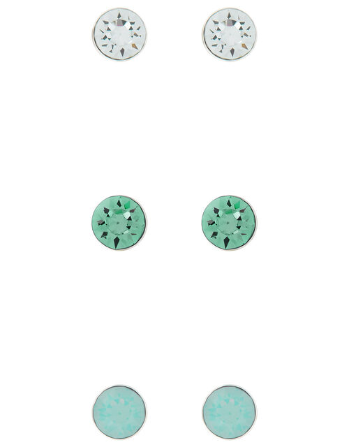 Sterling Silver Stud Set with Swarovski® Crystals, , large