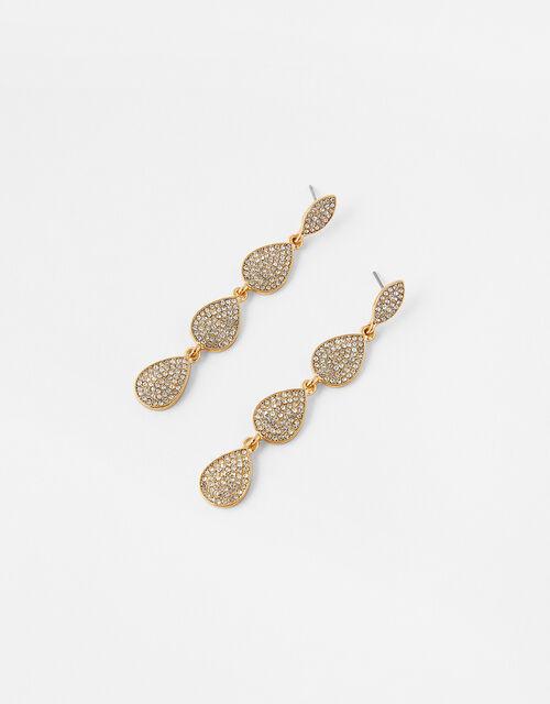 Cassie Pave Long Drop Earrings, , large