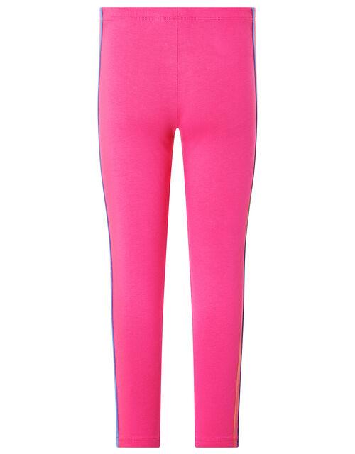 Rainbow Tape Jersey Leggings, Pink (PINK), large