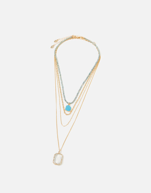 Country Retreat Gem Multirow Necklace, , large