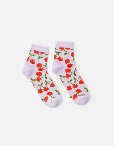 Cherry Ankle Socks, , large