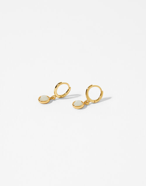 Gold-Plated Birthstone Earrings - June, , large