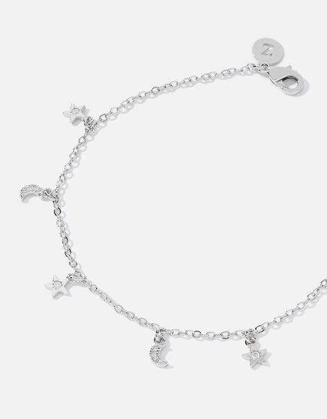 Platinum-Plated Celestial Charm Bracelet, , large