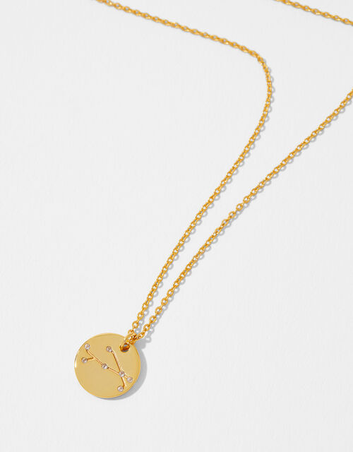 Gold Vermeil Constellation Necklace – Aries, , large