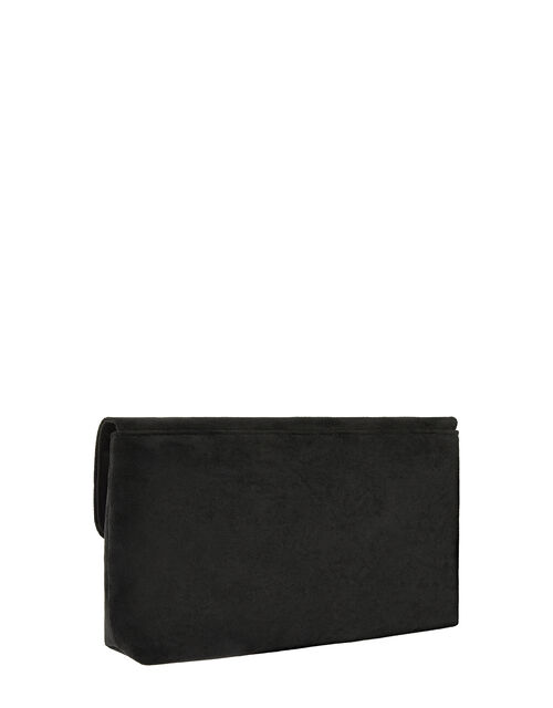 Natasha Suedette Clutch Bag with Chain, , large