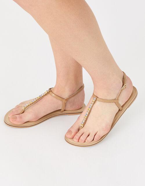 Coloured Gem Sandals, Metalic (METALLICS), large